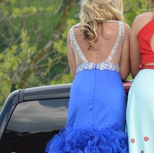 Royal blue prom or pageant dress